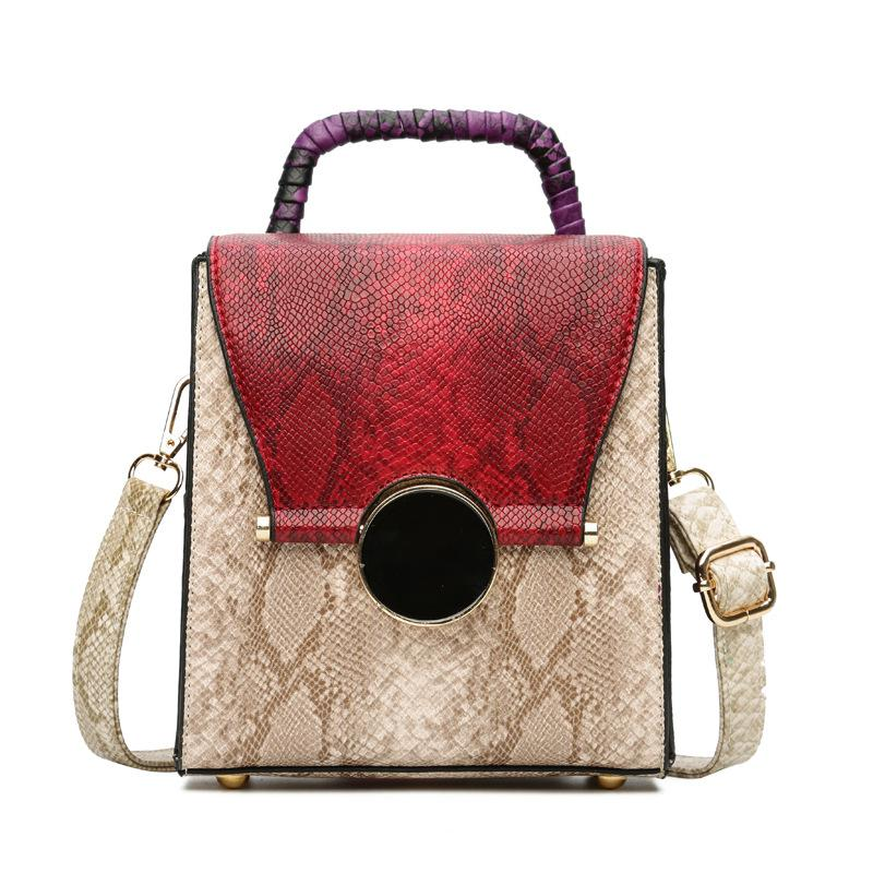38b782c77063 BEWITU Shoulder Bag for Girls Women s Bag Snakeskin Pu Retro Multi ...