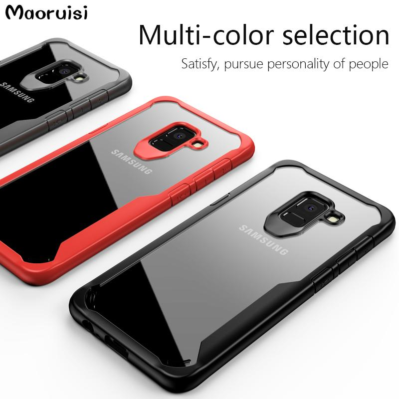 5a2f15b9463 Case For Samsung Galaxy A5 A8 2018 Cases Soft Silicone Transparent Back  Cover Shockproof Coque For Galaxy A7 2018 A8 Plus Capa Designer Phone Cases  Best ...