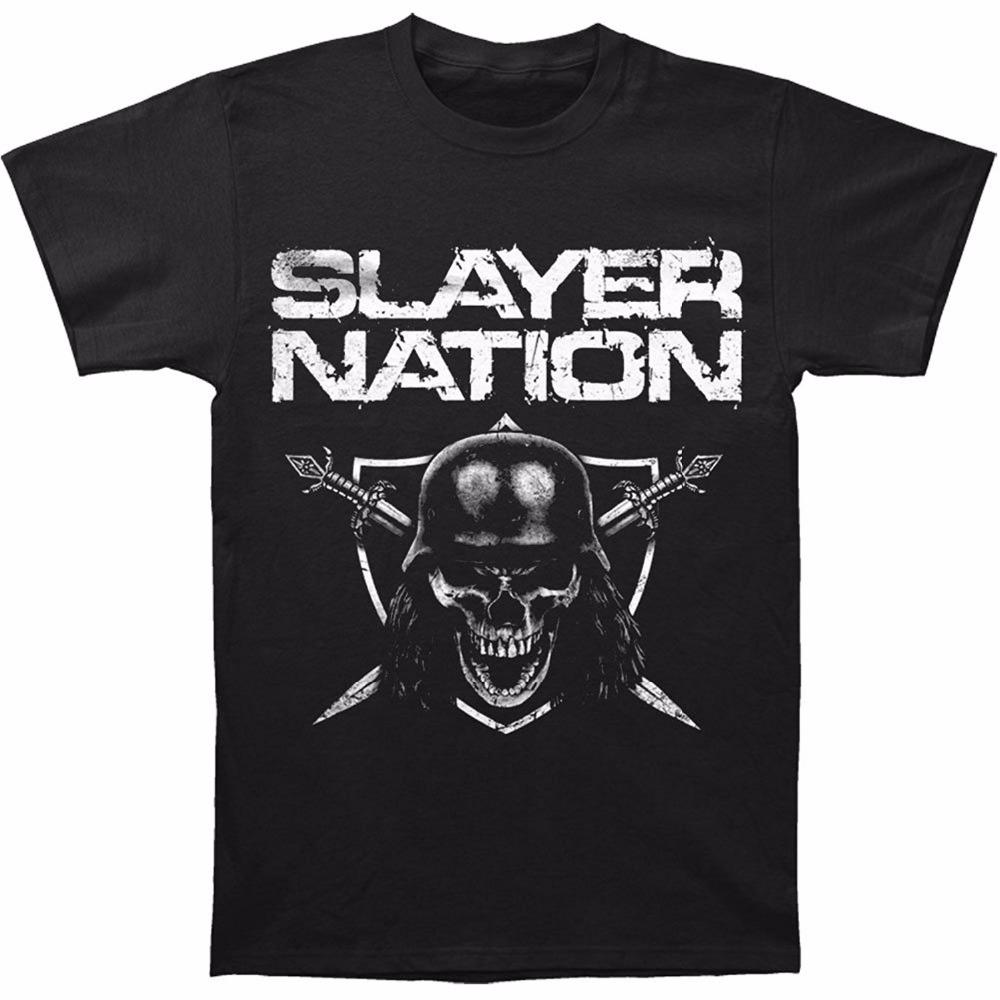 Cheap T Shirts Graphic O-Neck Short-Sleeve Slayer Nation T-Shirt Tees For Men