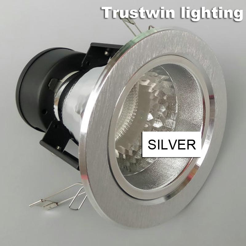 4X recessed sliver black E26 E27 bulb light housing cover 3'' 4'' 3 4 inch downlight fixture fitting without LED bulb