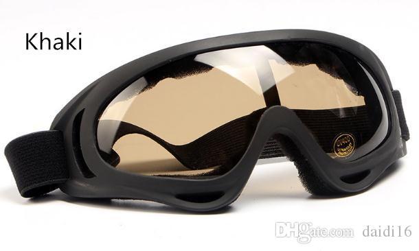Gafas de equitación Gafas de protección de arena Gafas para hombre Deportes al aire libre Polvo de parabrisas