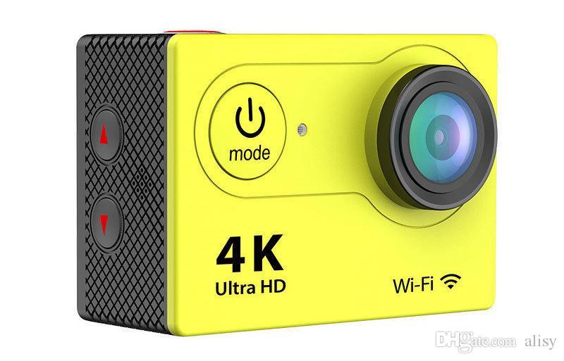 الترا HD 4K H9 WIFI كاميرات العمل كامل HD 1080P كاميرا مصغرة الرياضة DV كاميرات الفيديو 170 عدسة LCD 2 بوصة