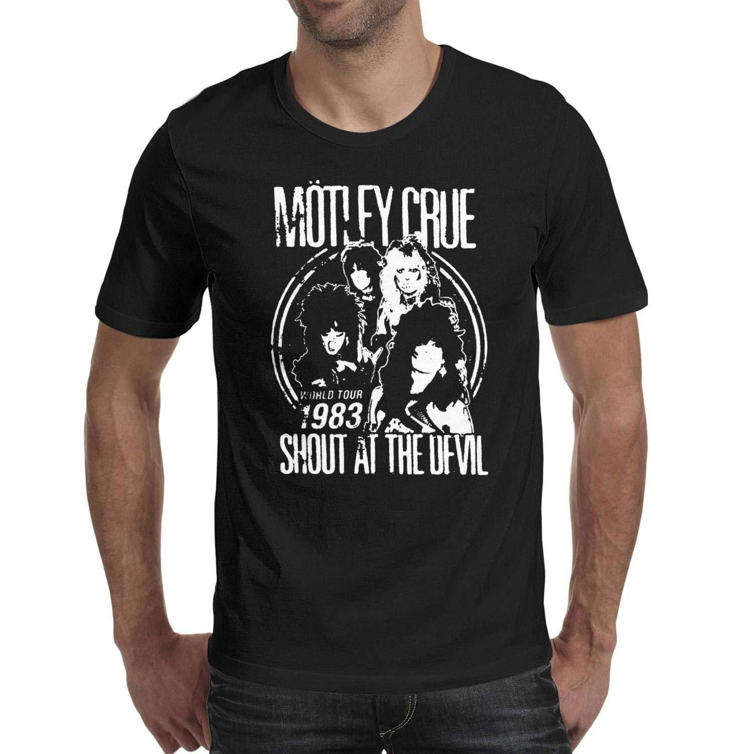 9a3fc9b9932d Men S Cotton T Shirt Motley Crue Shout At Devil Art Funny Cool Tee Printed  T Shirt 2018 Fashion Brand Top Tee T Shirts Funky Tee Shirt For Sale From  Baishi7 ...