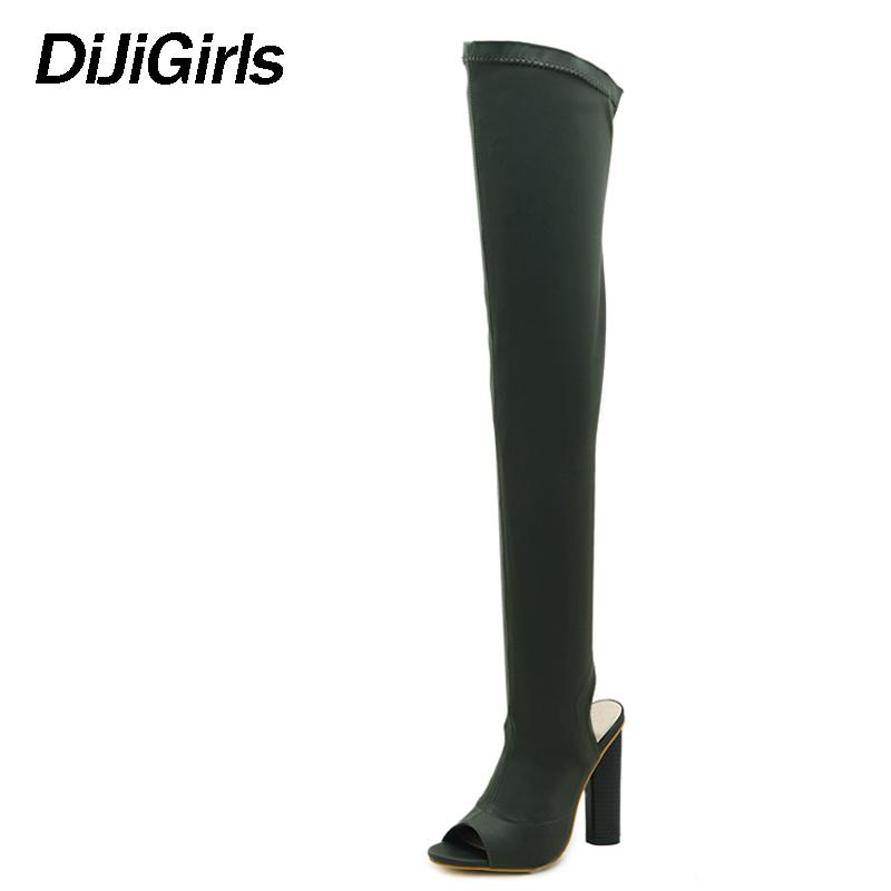 e13e4013c6d DiJiGirls Women Shoes Over The Knee Boots Sexy Thigh High Boots 2018 Summer  Ladies Fashion High Heels Shoes Woman SIZE 42 Red Boots High Heel Boots  From ...