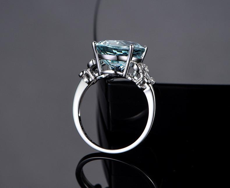 Blue Diamond Topaz anello di cristallo farfalla Rings Brida Anello di cerimonia nuziale dei monili delle donne anelli dono la volontà e la sabbia nuovo