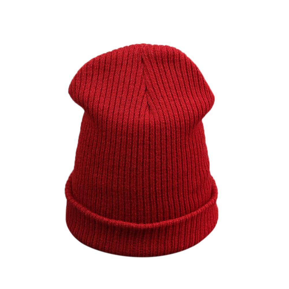 c278eccac92a9 Compre Mrwonder Hombre   Mujer Gorro De Color Liso De Punto Gorro De Lana  Casual Beanie Hat Para Otoño Invierno A  34.06 Del Bingquanwat
