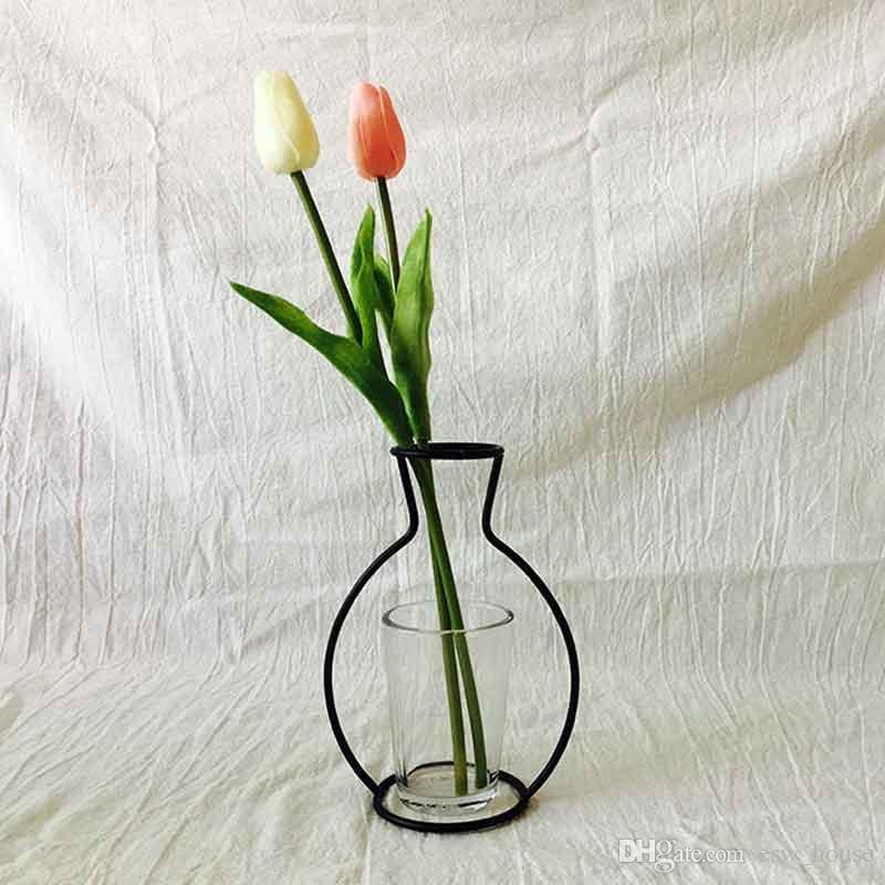 Criativo Ferro Vaso Plantador Rack Vasos de Flores Prateleira Bardian Ferro Vaso Decoração Soilless Pots Organizador de Decoração Para Casa Acessórios Atacado
