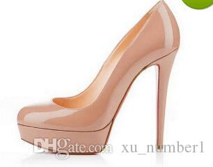 40d0ec5f9d88 Designer Brand Black Matte Leather Round Toes Red Bottom High Heels ...