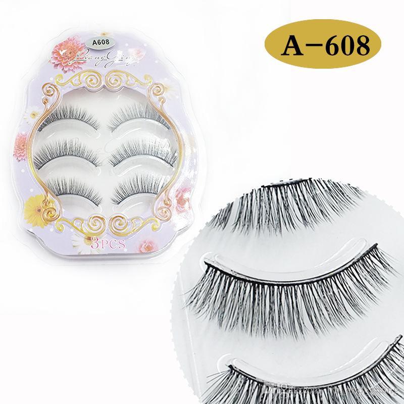 Hot Sale 3D Natural Stitch Cross Messy False Eyelashes long makeup 3D Lashes Fake Eye Lashes Extension Make Up Beauty