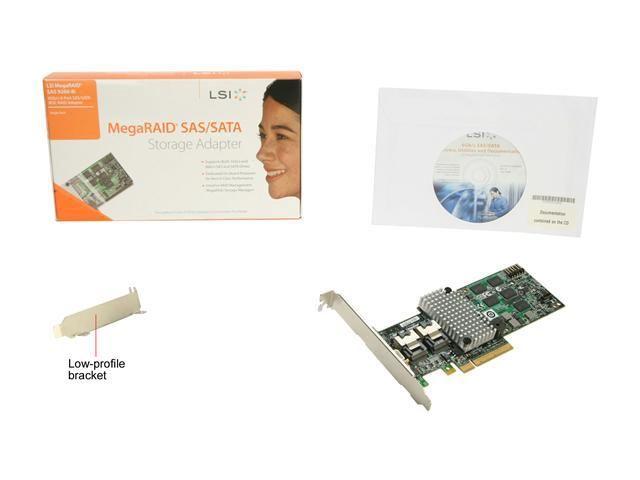 New LSI MegaRAID 9260-8i 8-port PCI-E 6Gb/s SATA/SAS RAID Controller Card