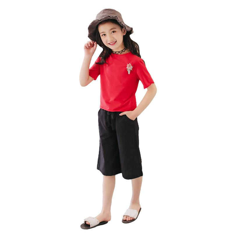 e3103d40632054 Acquista Abbigliamento Bambini 2018 Summer Top + Pant 4 13 Anni Fashion  Baby Girl Clothes Teenager Girls Outfit Kinder Kinder A $29.8 Dal Friendhi    DHgate.