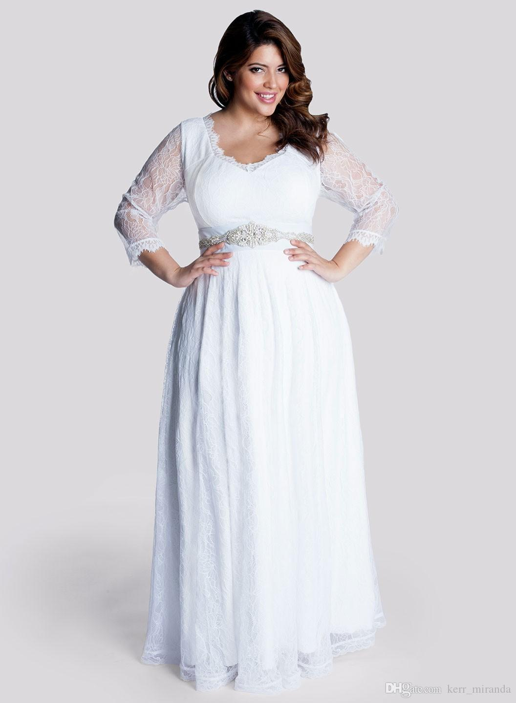 Plus Size White Dresses For Bridal Shower – DACC