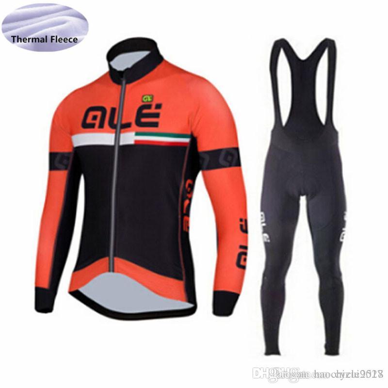 ALE Pro Team Winter Thermal Fleece Long Sleeve Cycling Jersey Bike ... 8b04d2e00