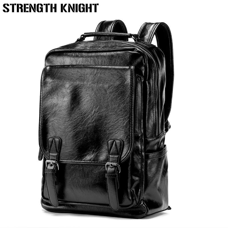 Leather Backpack Men Large Capacity Mens Black Leather Backpack For Travel  Casual Men Daypacks Leather Travel Backpack Laptop Rucksack Backpacks For  College ... bd21d546a341