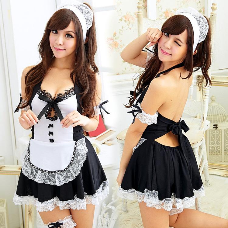 3345eb250e Sexy lingerie large size adult female sense uniform temptation maid wear  transparent pajamas maid outfit set wholesale