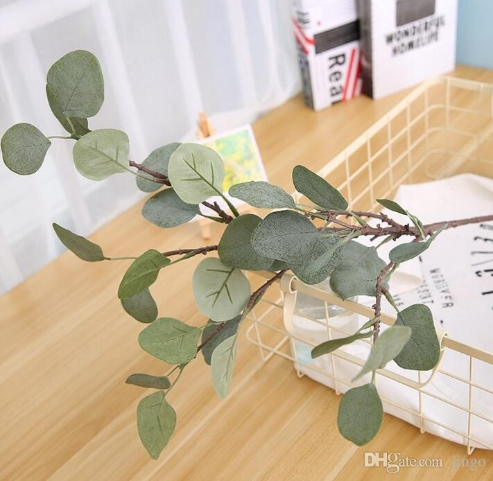 Eucalyptus Artificial flower silk flower decoration artificial leaves dinning table hall way Artificial plants decoration 85cm