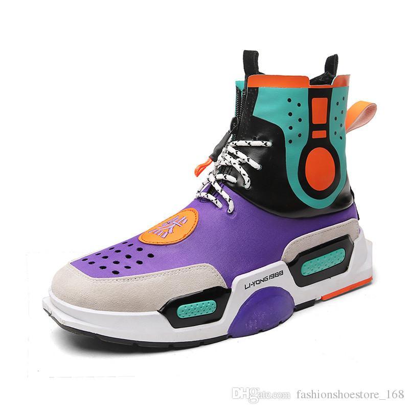 dd34c423f4d Compre diseñador de la personalidad hip hop zapatos para hombre jpg 800x800  Tenis sapato