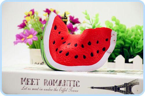 The fashion watermelon 18cm*9cm 50g squishy kawaii jumbo watermelon slow rising Squishy charm squeeze toy