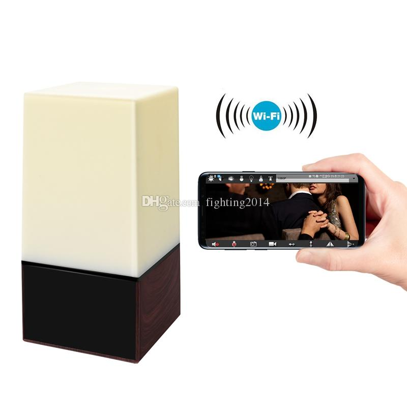 Bunte Lichter Wifi Uhr Kamera mit IR Nachtsicht HD 1080P Uhr Video Recorder home Security Überwachungskamera Baby Monitor
