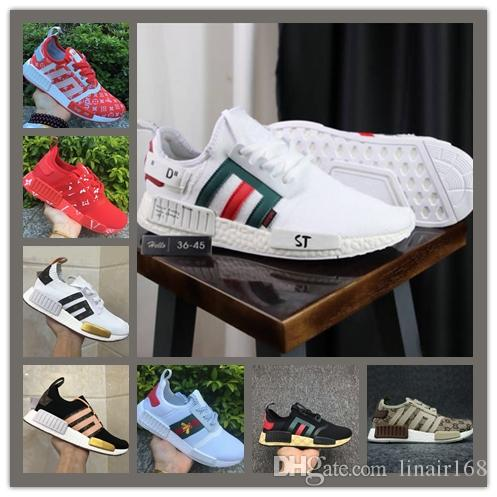 ccfa8bdcd 2018 NMD R1 Primeknit PK Perfect Nmd Runner Off Running Shoes for ...