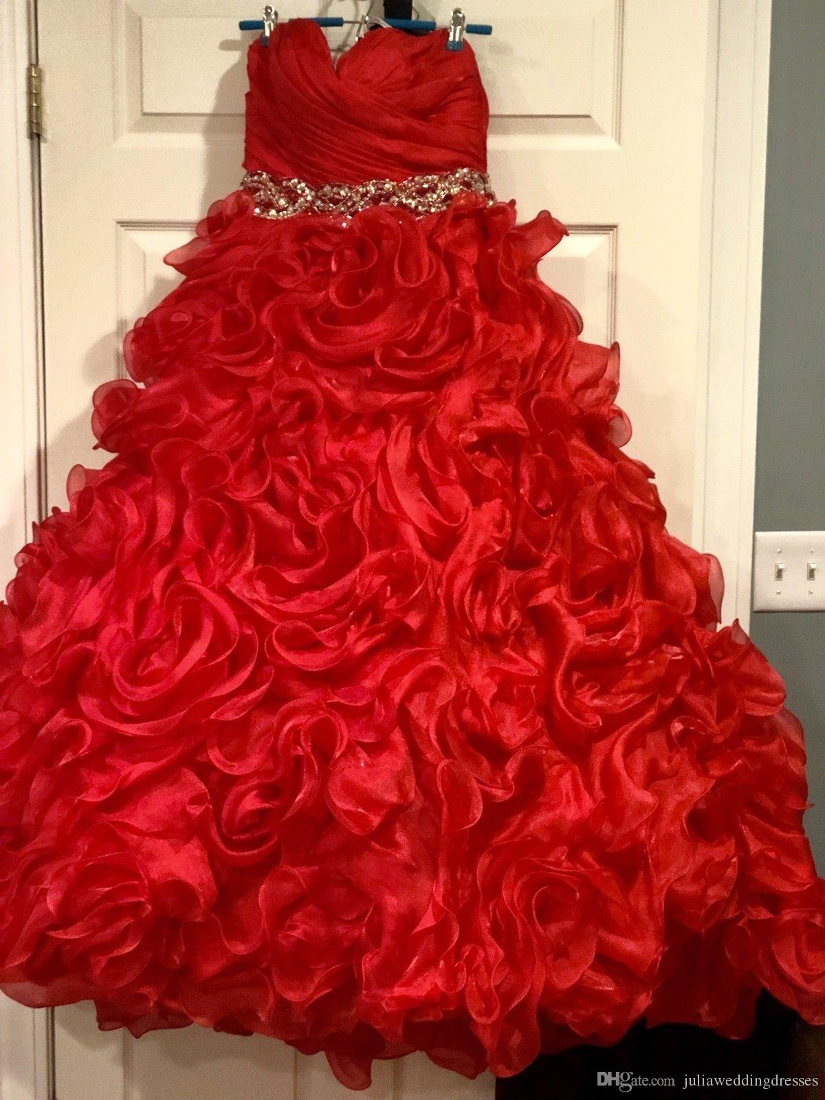 69fad5d2f8d2 2019 New Stunning Red Puffy Ball Gown Quinceanera Dresses Crystals For 15  Years Sweet 16 Plus Size Pageant Prom Party Gown QC1067 Quinceanera Dresses  ...