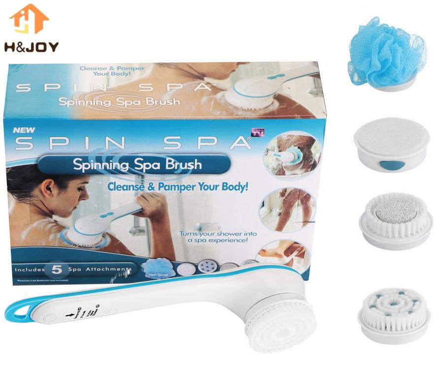 Best Cleaning Bath Brush Spin Spa Massage Electric Shower Spin ...
