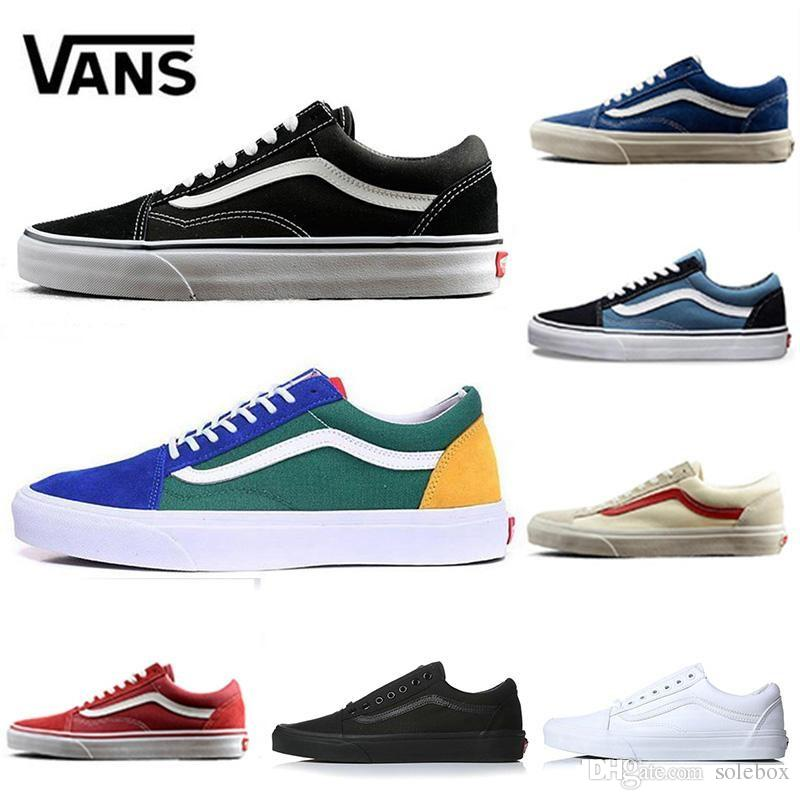 4ffc0aee174f 2018 Wholesale Cheap Vans X Old Skool Vault Og Classic Slip On X Canvas  Black Blue Mens Sneaker Fashion Skate Boarding Designer Shoes Zapatos From  Solebox