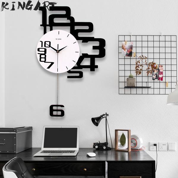 Large Wall Clock Digital Hanging Wall Watch Big Decorative Modern
