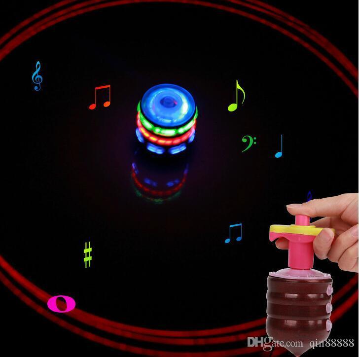 Nuovo Flash Giroscopio Giroscopio Luci colorate Peg-Top Manuale LED Beyblade Musica Top giocattoli di filatura gratis bambini