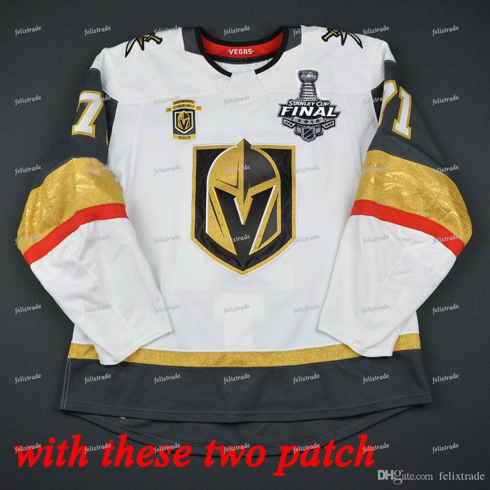 2019 Vegas Golden Knights 2018 Stanley Cup Final Playoffs Inaugural 100th  Tomas Tatar Ryan Reaves Reilly Smith Alex Tuch Fleury James Neal Jersey  From ... 95cf029f440