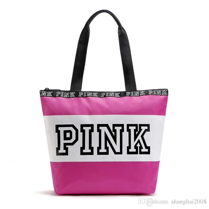08a7edce4de8 2018 New Pink Letter Handbags Women Shoulder Bags Love Pink Waterproof Girls  Shopping Bag Handbag Secret Travel Duffle Bags Beach Bag Online with ...