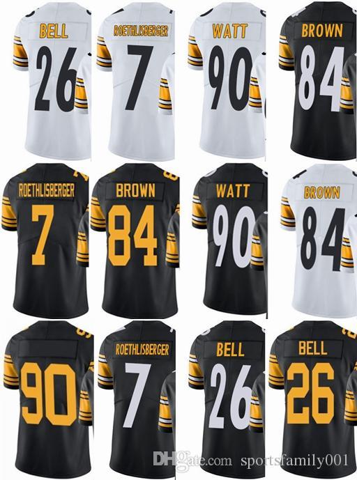 dd220c360 Pittsburgh Steeler Mens Jersey  7 Ben Roethlisberger  26 Le Veon Bell  84  Antonio Brown  90 T.J. Watt Vapor Untouchable Limited Jerseys 7 Ben  Roethlisberger ...