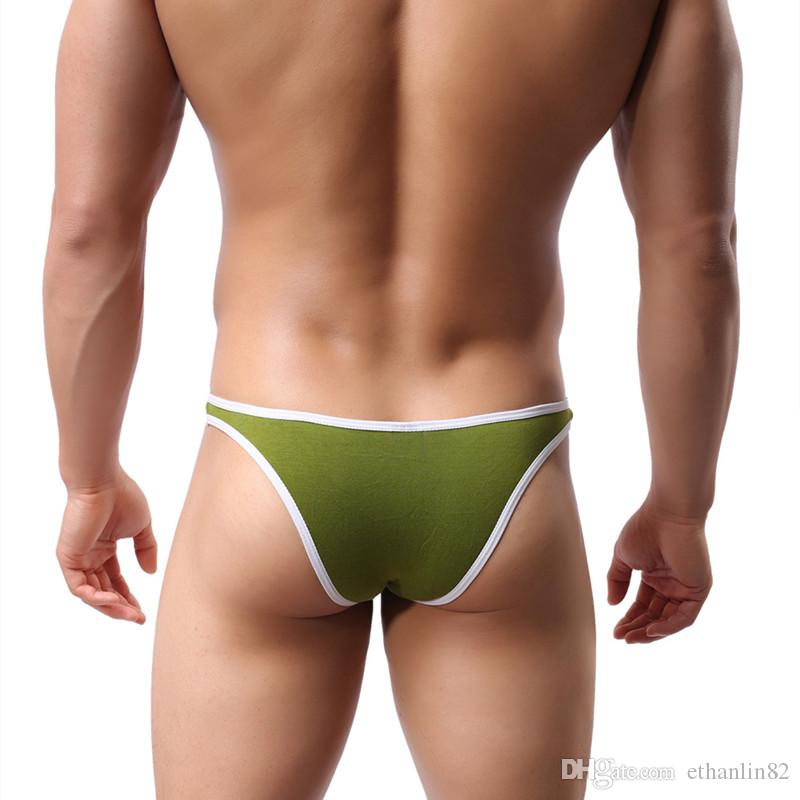 Men's Breathable Modal Briefs Sexy U Convex Penis Sheath Pouch Panties Underpant Tanga Low Waist Male Underwear