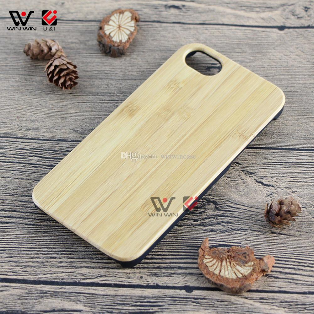 Plain wood material cell phone cases for iPhone 6plus 7plus 8plus 6 6s 7 8 plus x bamboo wooden mobile phones back cover