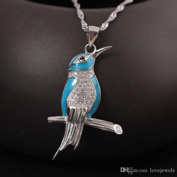 Original design charm s925 pure silver bird pendant wholesale original design charm s925 pure silver bird pendant wholesale national wind kingfisher necklace chain of female clavicle china direct bird pendant bird mozeypictures Image collections