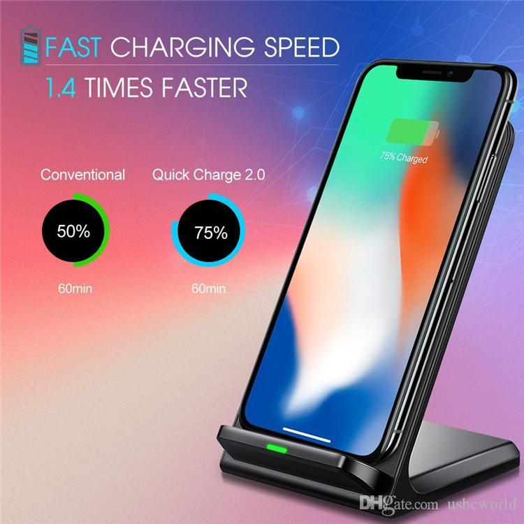Caricabatterie wireless veloce Qi Caricabatterie wireless veloce Qualcomm 2.0 IPhone 8 8P X Samsung S8 S8Plus S7 S6 Nota 8