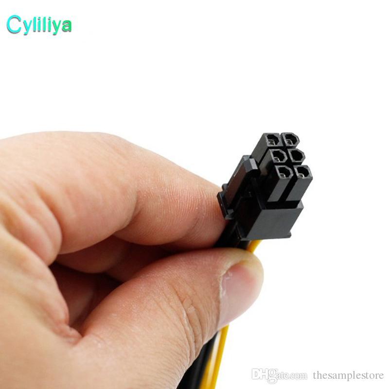 Dual 15 Pin 2 SATA To 6 Pin PCI EXPRESS PCI-E Sata Graphics Converter Adapter Video Card Power SATA Cable Cord