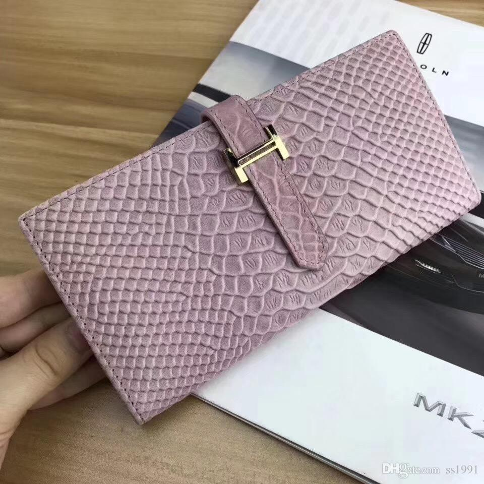 Wholesale-Luxury wallet woman handbag bag passport ID credit card holder cowhide clutch genuine leather wallet beautiful female lady purse