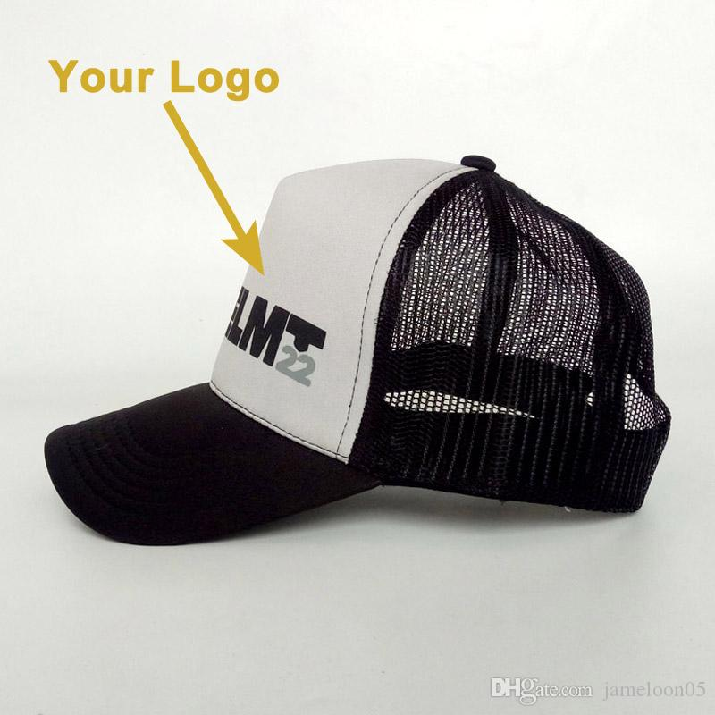 Curve Brim Mesh Cotton Material Small MOQ Gift Hat High Quality Retail  Popular Trucker Cap Custom Hat Baseball Sport Caps Custom Fitted Hats  Design Your Own ... fc3ecfec032