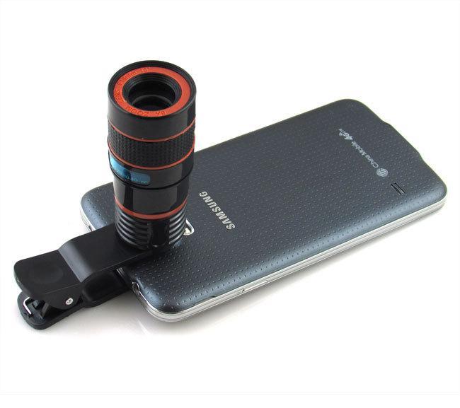 Клип на 12-кратный оптический зум HD телескоп Портативный телеобъектив для iPhone Samsung Huawei Универсальный мобильный телефон