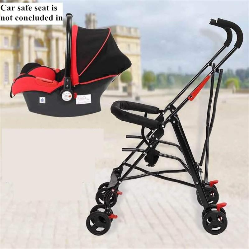 2018 Newborn Baby Car Seat Stroller Carts Light Folding Portable With ChildrenS Safety Basket Steel Highland Frame From Orchidor