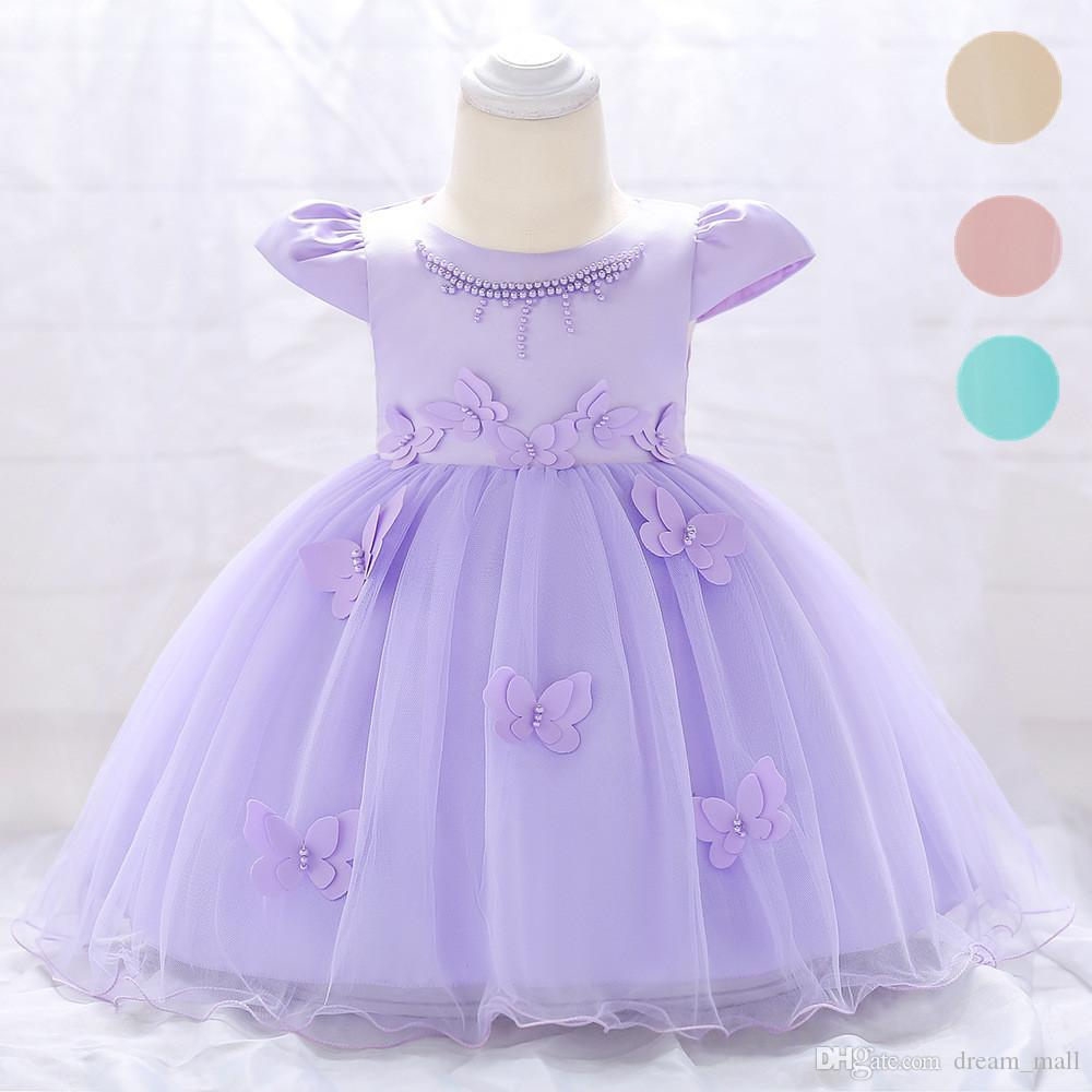 656898e96fc641 2019 Newborn Baby Girl Dress Cap Sleeve Butterfly Flower Birthday Party  Tutu Gown Children Clothes From Dream_mall, $20.11 | DHgate.Com