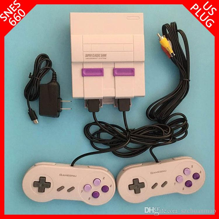 New arrival Mini TV BOX can store 660 console AV 8bit video game for snes  games consoles with retail box by SF-EXPRESS