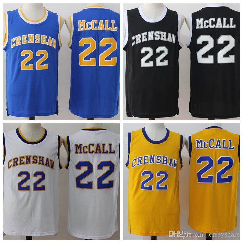 Top Quality 22 Quincy Mccall Jersey Movie Basketball Crenshaw