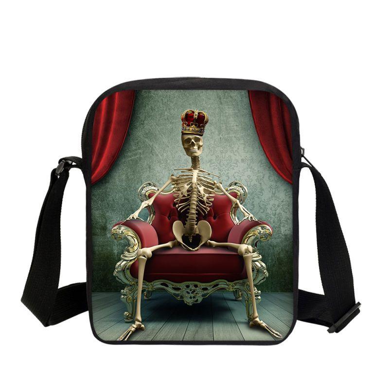 Acquista VEEVANV Brand Designer Cool Crazy Skull Stampa Borse Ragazzi  Bambina Borse A Tracolla Moda Casual Messenger Sling Bag A  41.5 Dal  Abbybab  cddde66195d