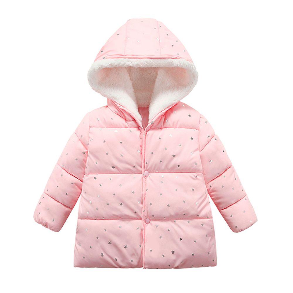 cf55f3f89ba20 Genuine MUQGEW Children's Clothing Girl Outerwear winter Hooded Winter  Jacket Fashion Kids Star Coat Cloth Kid Clothes #TF
