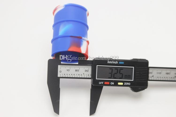 Novo design de moda 30 ml tampa firme cera recipiente de óleo de silicone Barril de óleo recipiente dab barril atacado