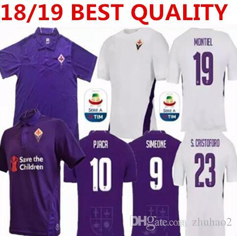 2019 2018 2019 Fiorentina Soccer Jersey 10 PJACA 9 SIMEONE 8 GERSON 20  PEZZELLA 25 CHIESA 13 ASTORI Custom Home Purple Florence Football Shirt  From Zhuhao2 c8ddacbd9