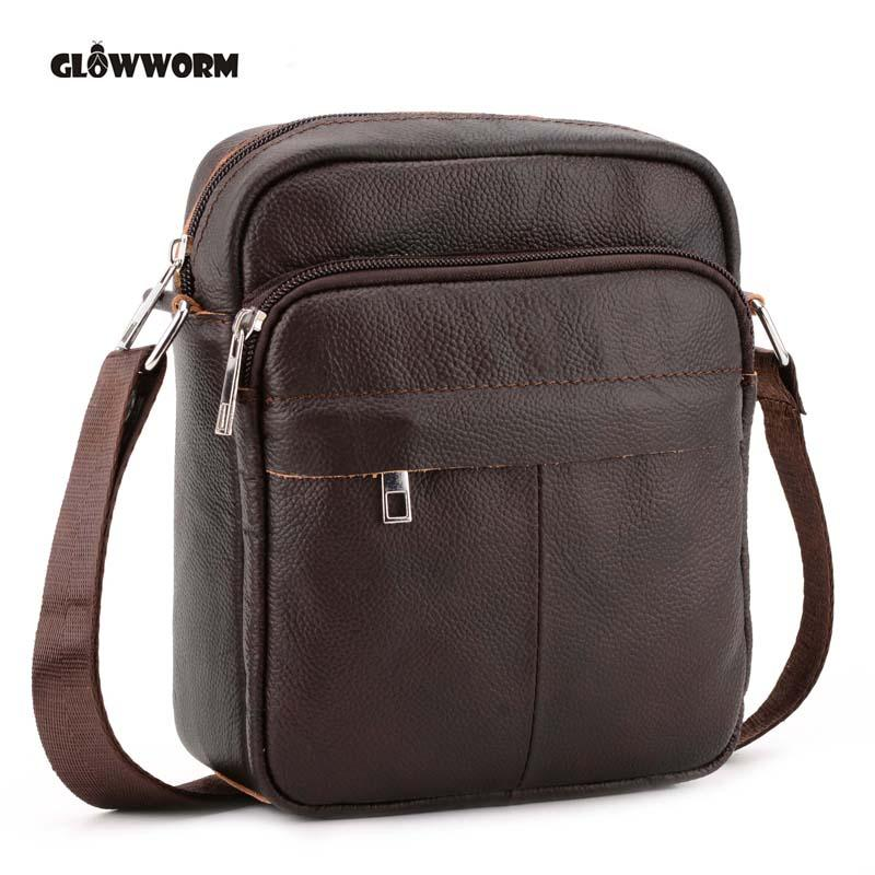 c3ea281b5f80 Genuine Leather Men Bags Hot Sale Male Small Messenger Bag Man Fashion  Crossbody Shoulder Bag Men S Travel New Bags CX385 Womens Purses Evening  Bags From ...
