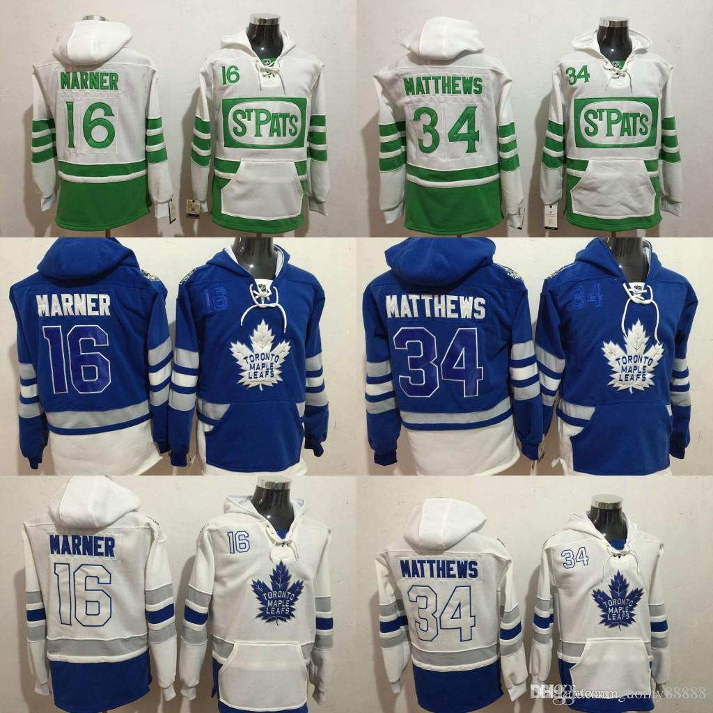 2019 Toronto Maple Leafs Hoodie 34 Auston Matthews 16 Mitch Marner 29  William Nylander Blue 100th 2017 Centennial Classic Hockey Jersey Stitched  From ... d0bb98158